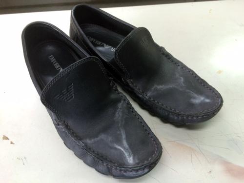 靴 塩ふき クリーニング