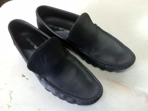 靴のシミ 後