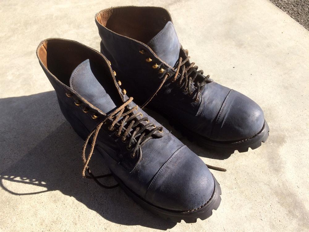 ブーツ 染め替え