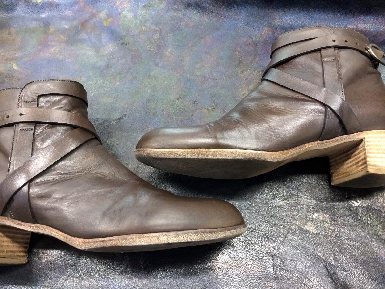 サルトル ブーツ 染め替え