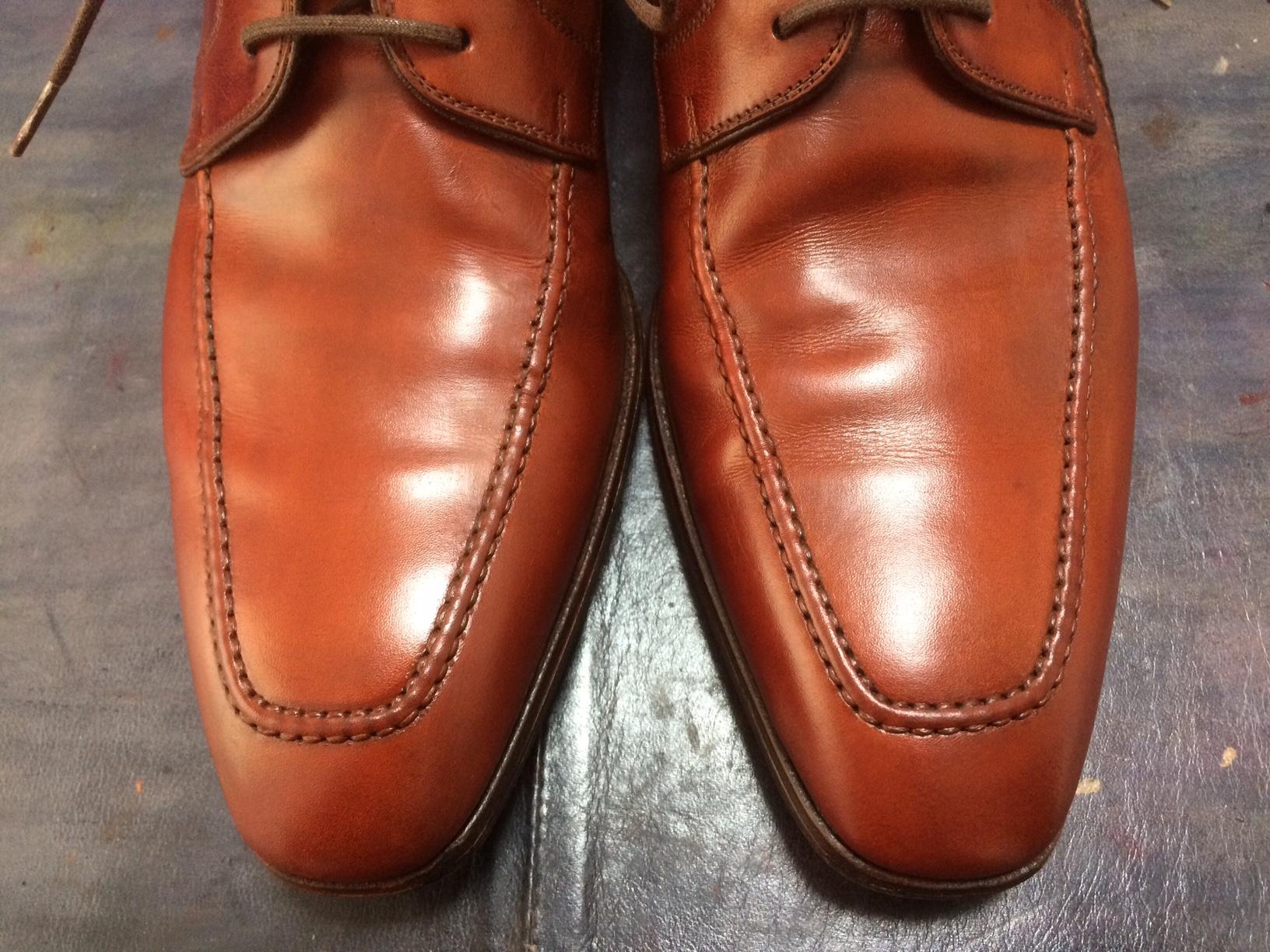 マグナーニ 靴 染め替え