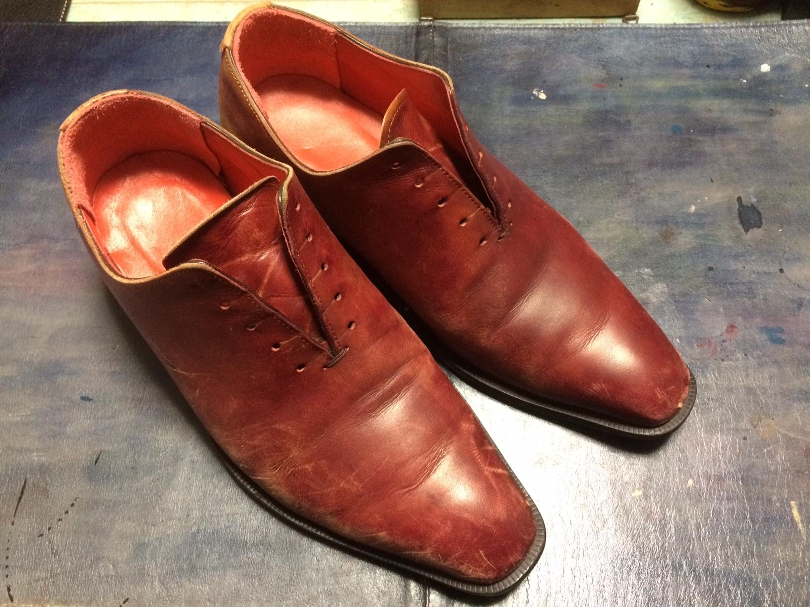 靴 オーダーメイド 染め替え