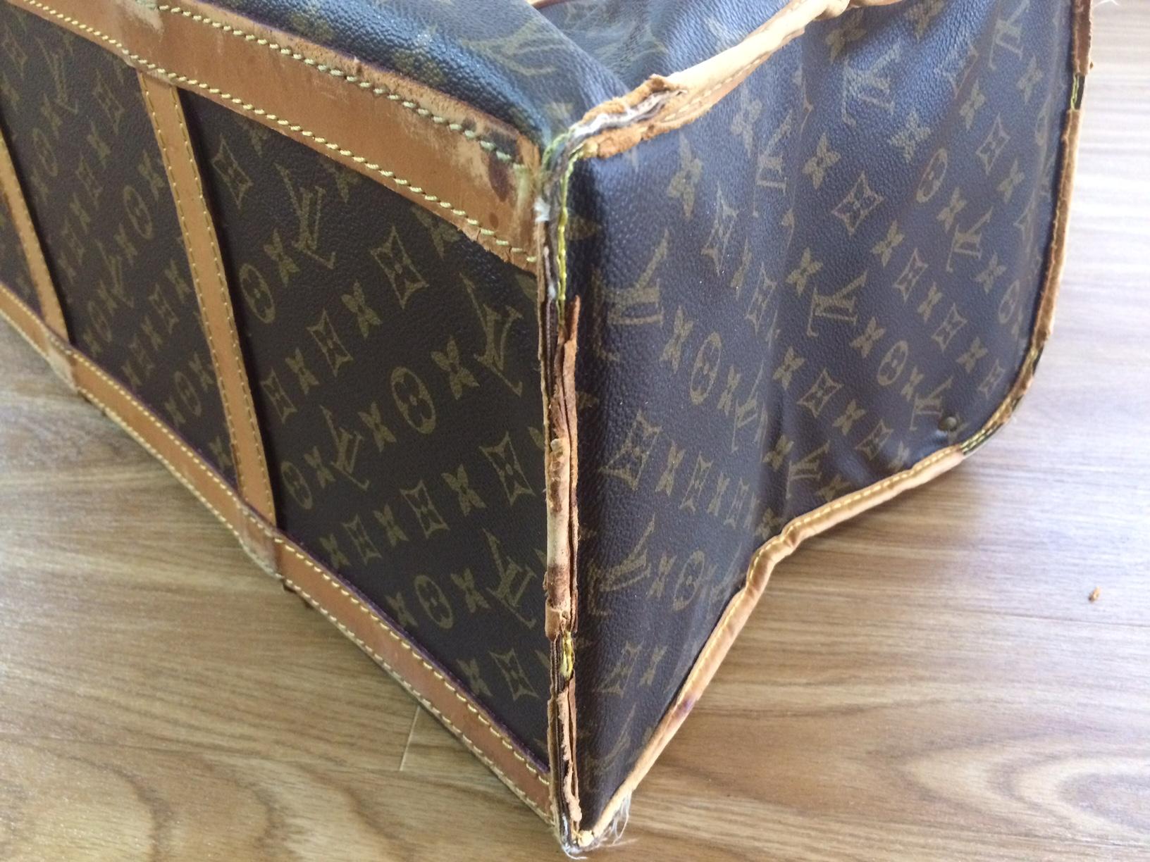 ルイヴィトン ヌメ革交換 鞄修理