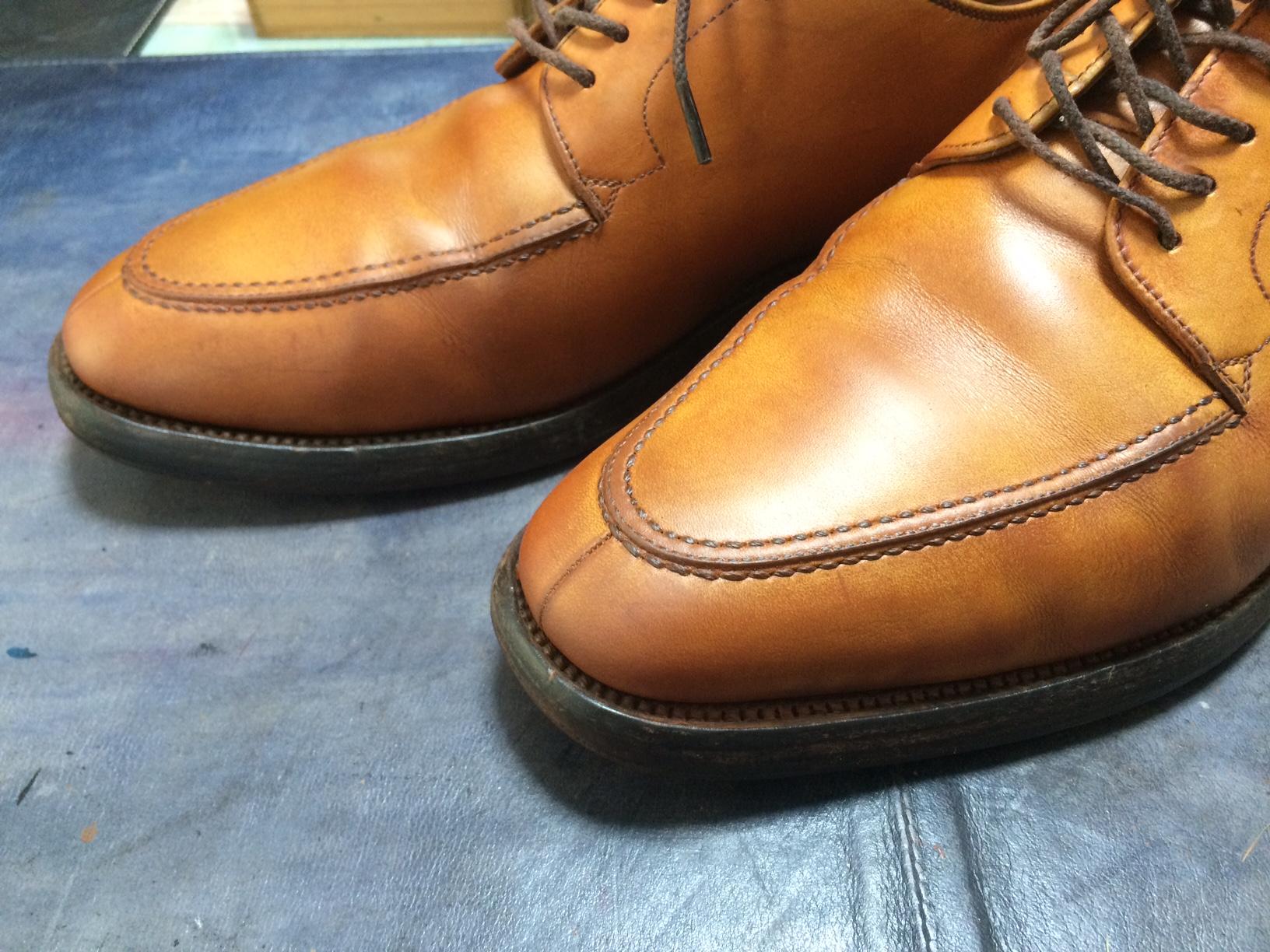 スコッチグレイン 靴磨き お手入れ