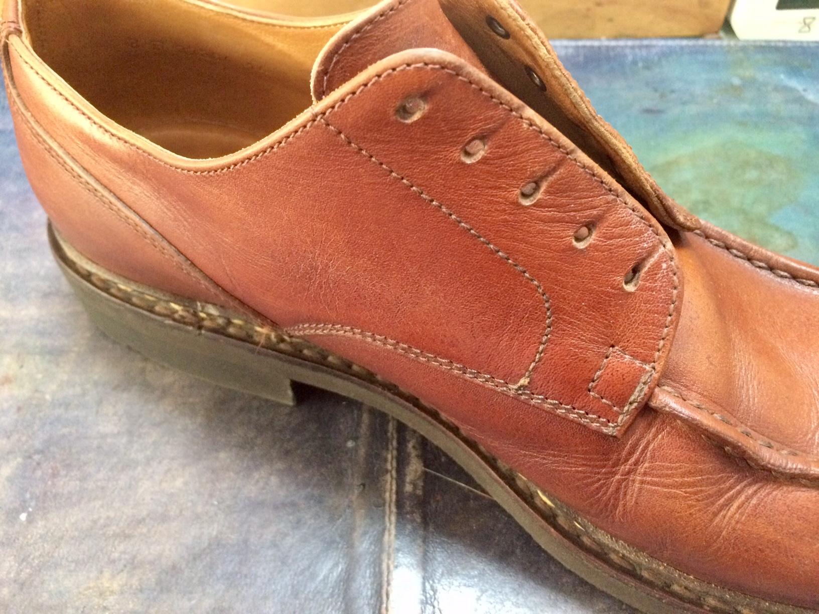 パラブーツ お手入れ 靴磨き