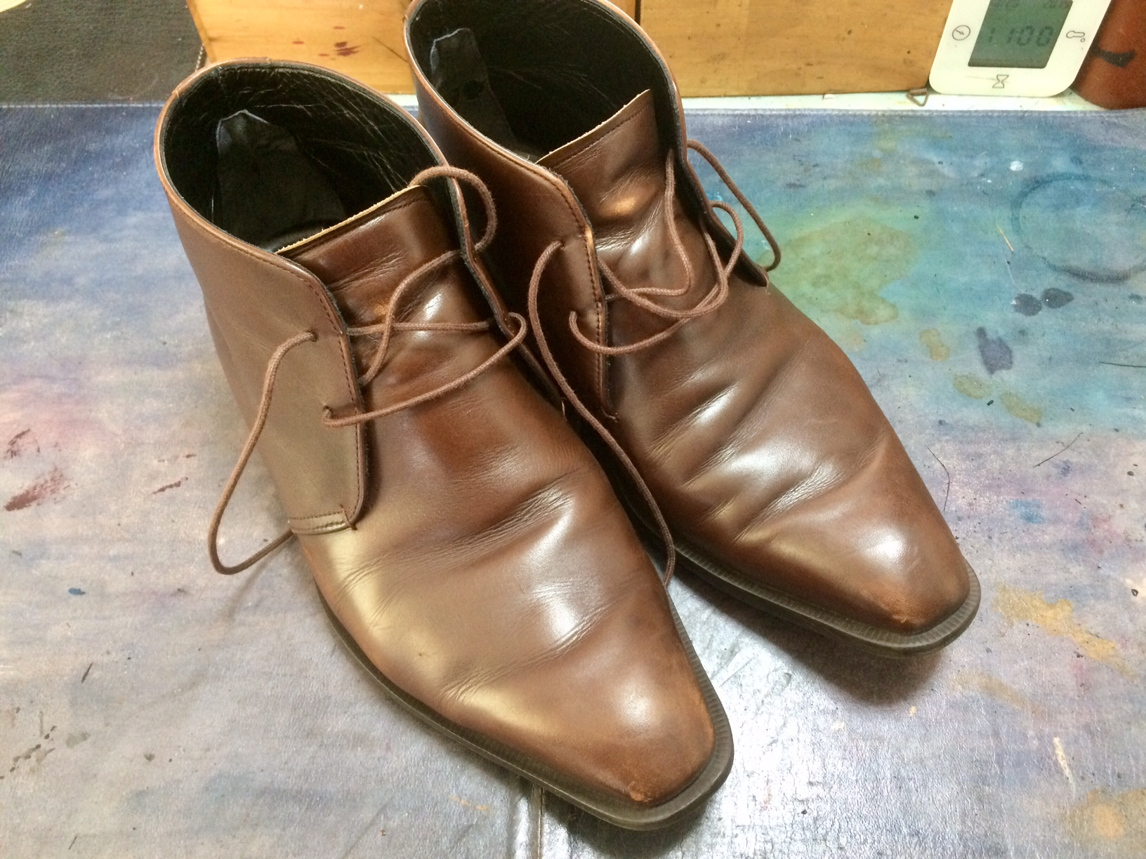 ブーツ 靴 染め替え