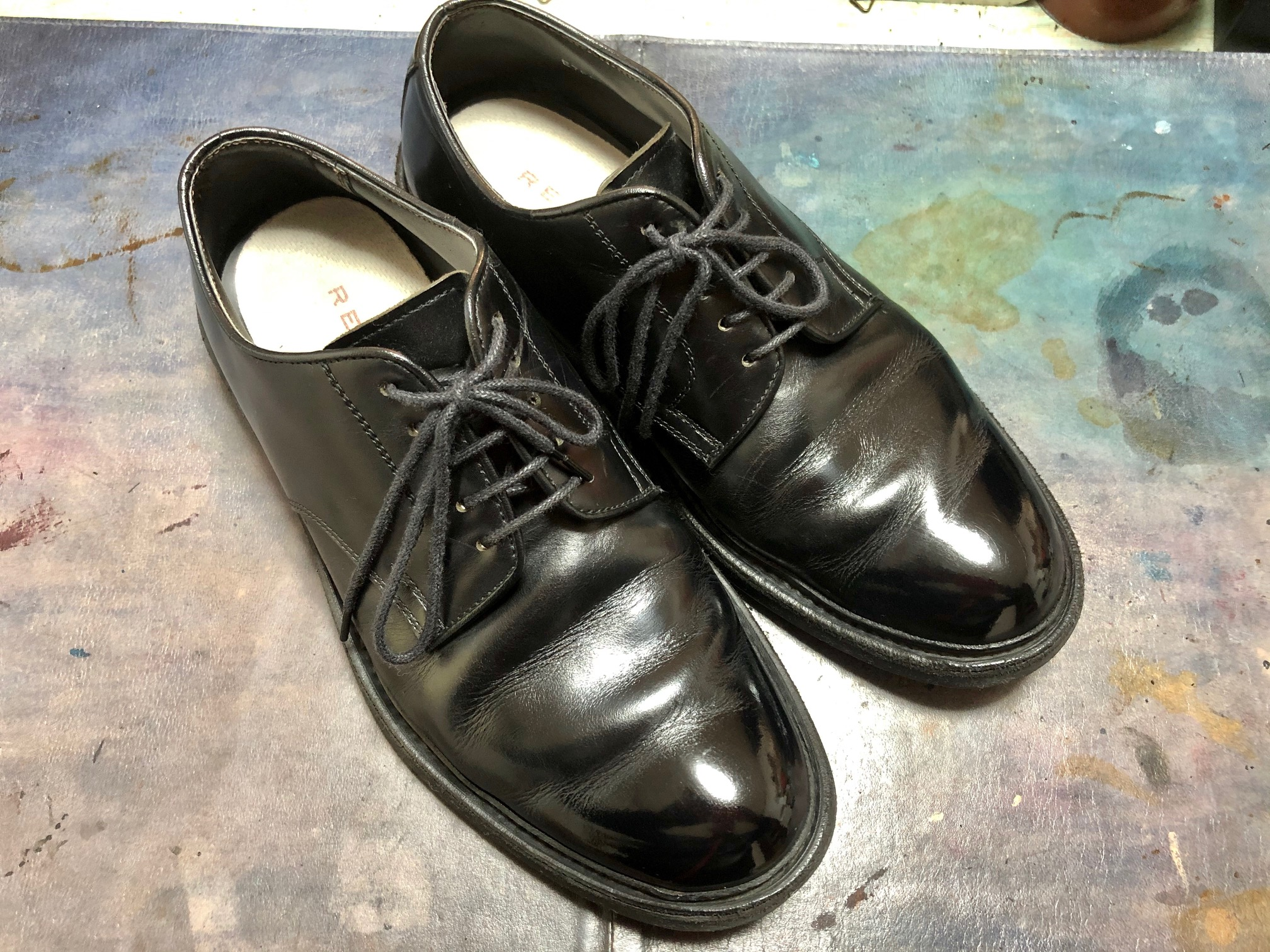 成人式 靴磨き