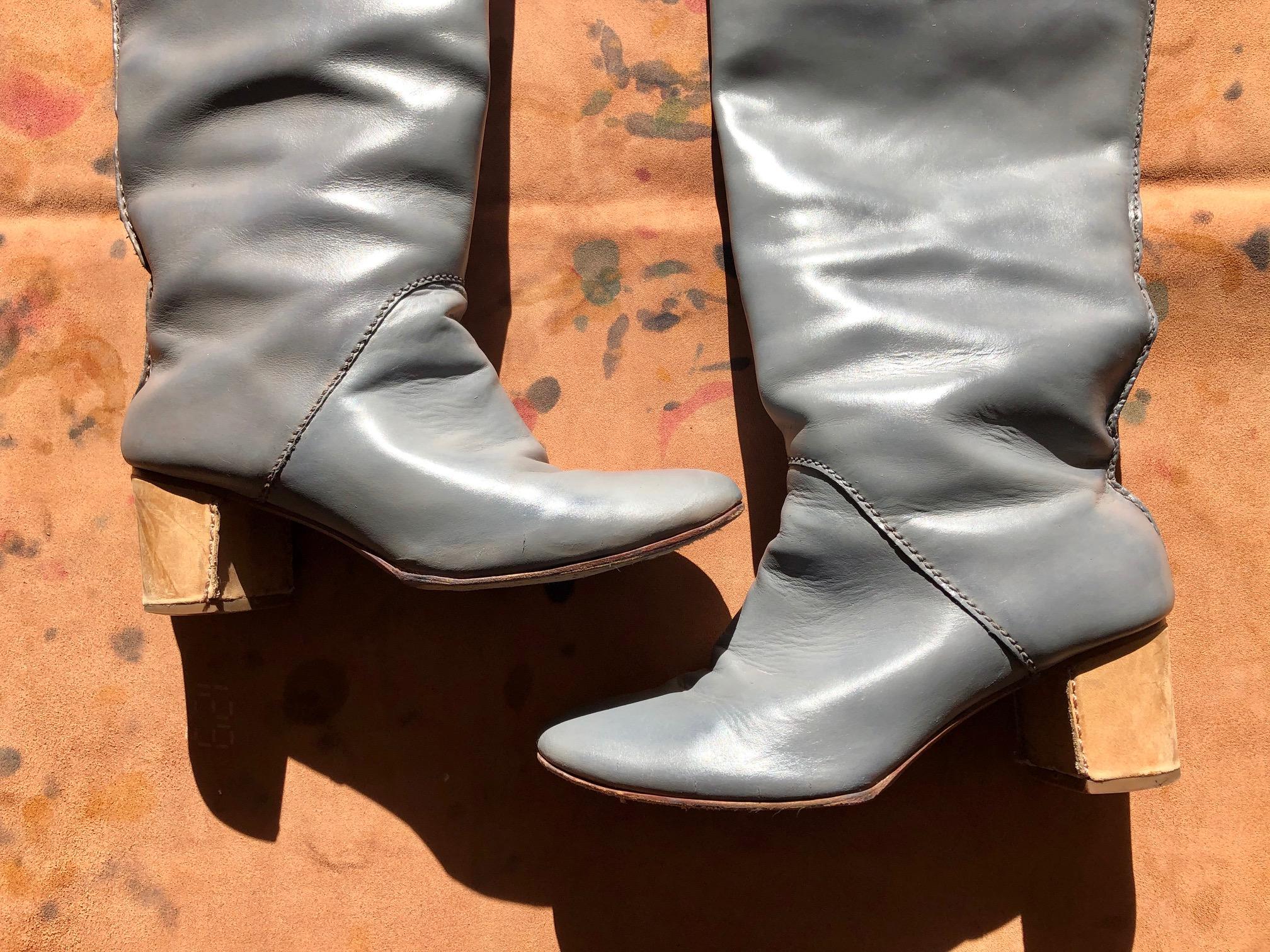 ロングブーツ 染め替え 婦人靴