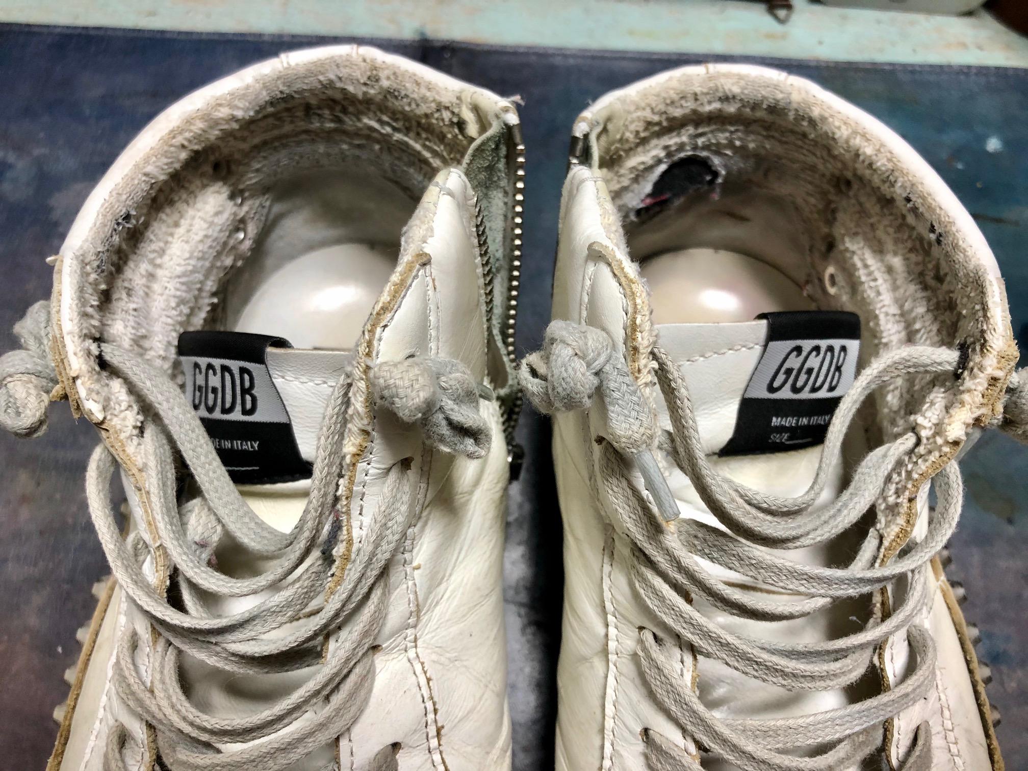ゴールデングース スニーカー 靴修理