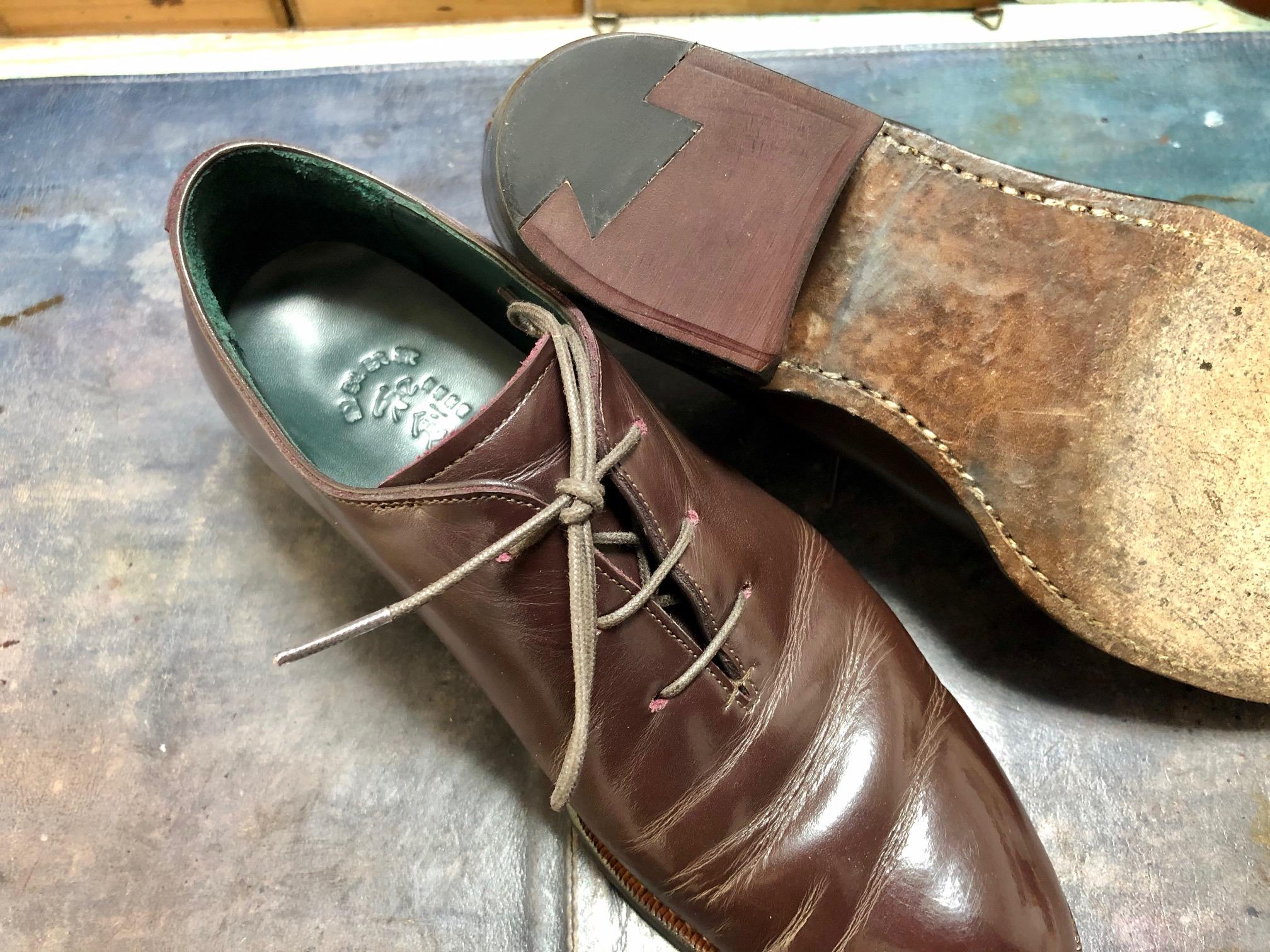 宮城興業 靴修理 かかと修理