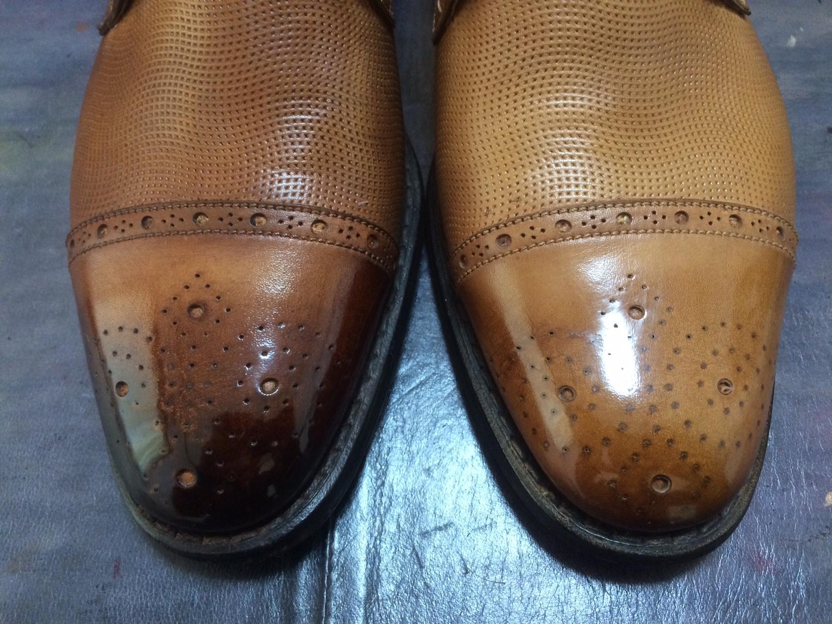 靴磨きワックス 落とし方