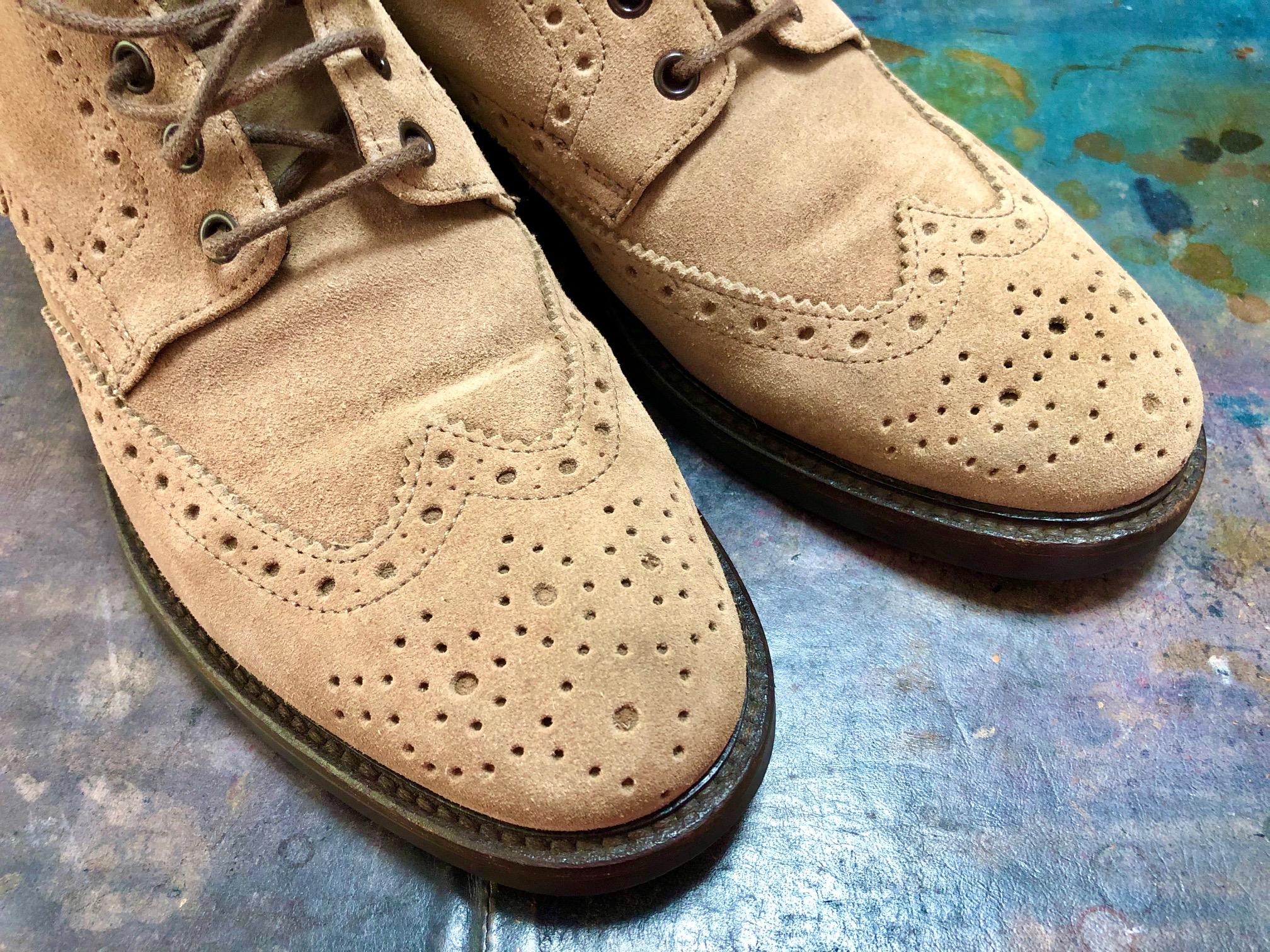 スエード 靴 染め替え