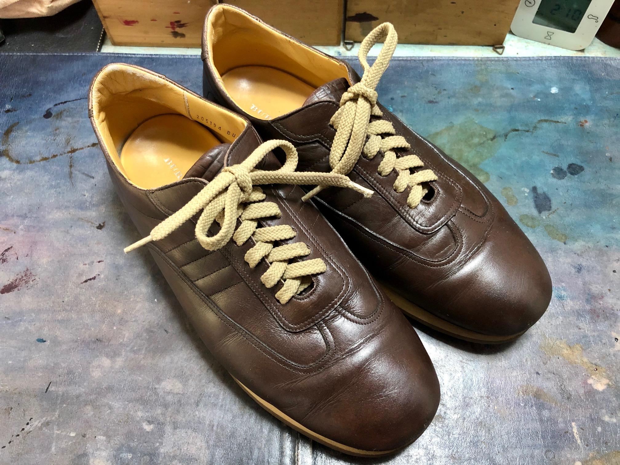 レザースニーカー お手入れ 靴磨き