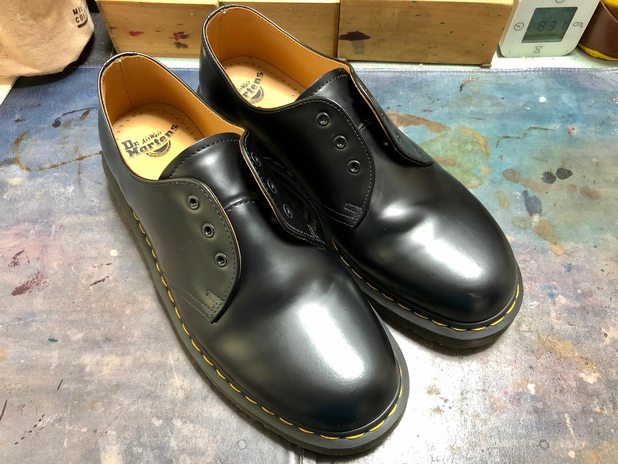 ドクターマーチン お手入れ 靴磨き