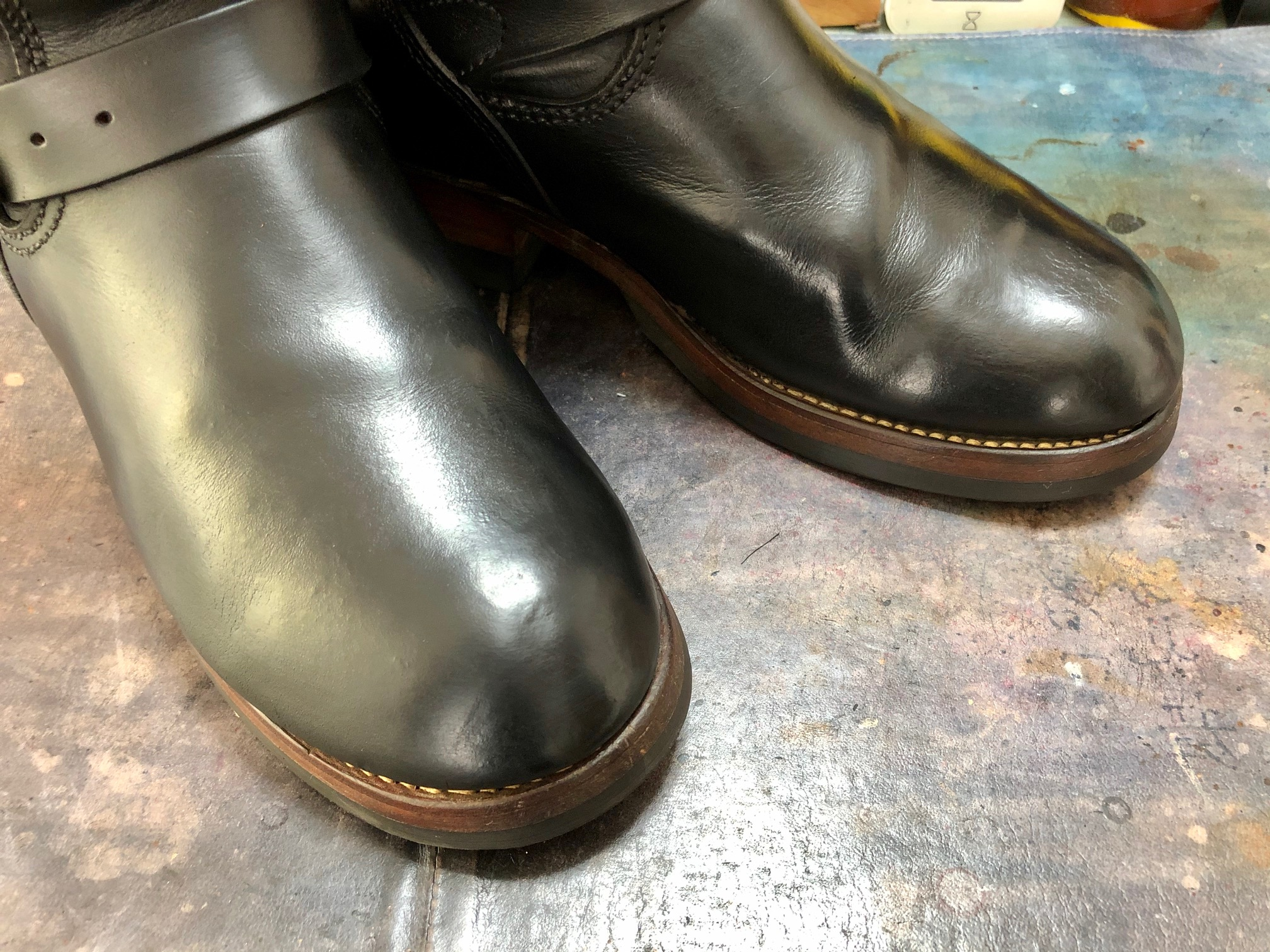 ロングブーツ お手入れ 靴磨き