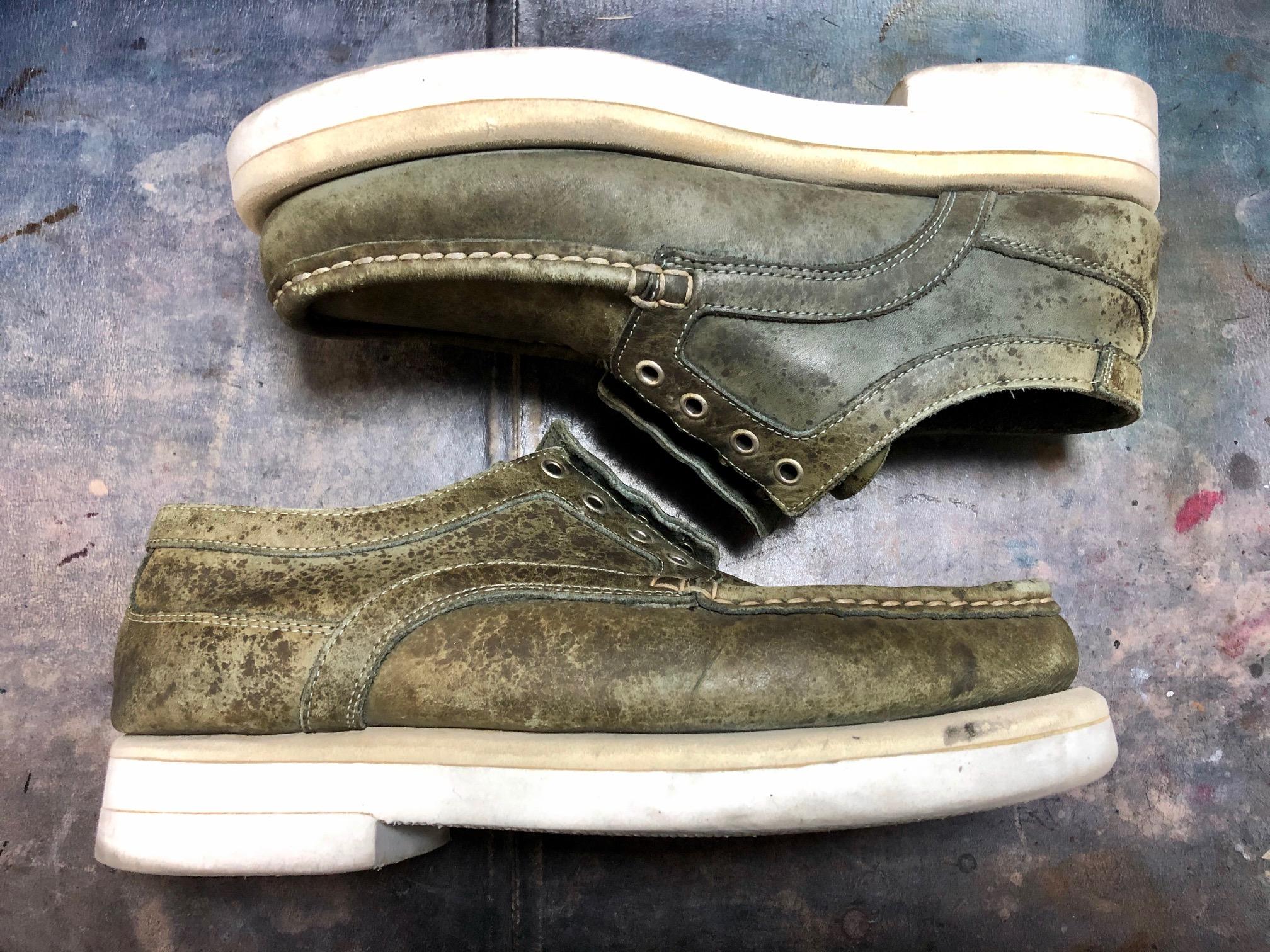 革靴 染め替え シミ隠し