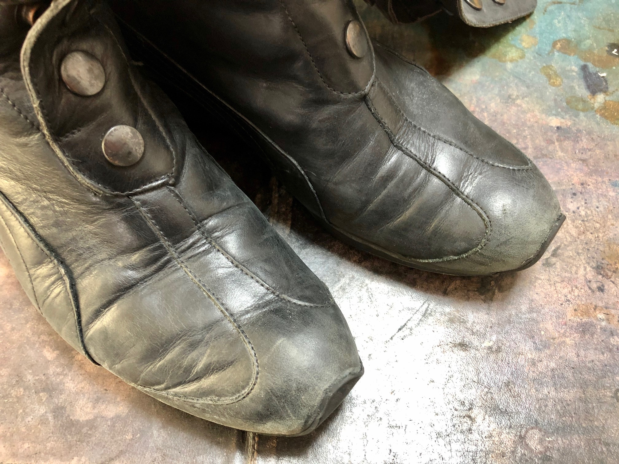 ロングブーツ 靴修理 オールソール