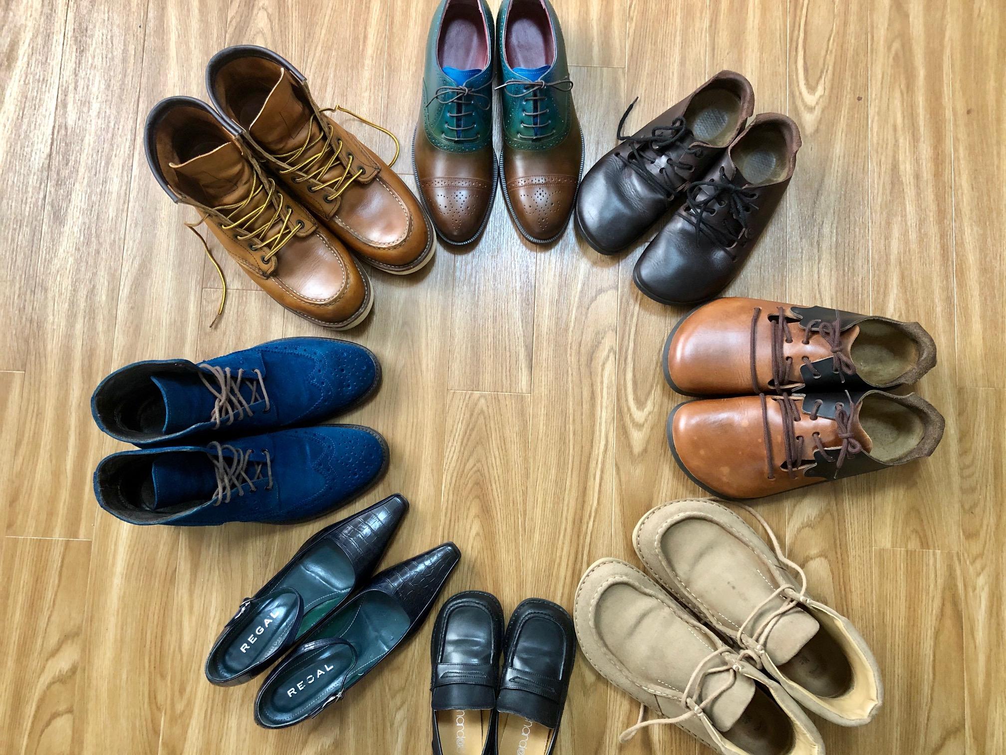 靴磨き 靴修理 多治見