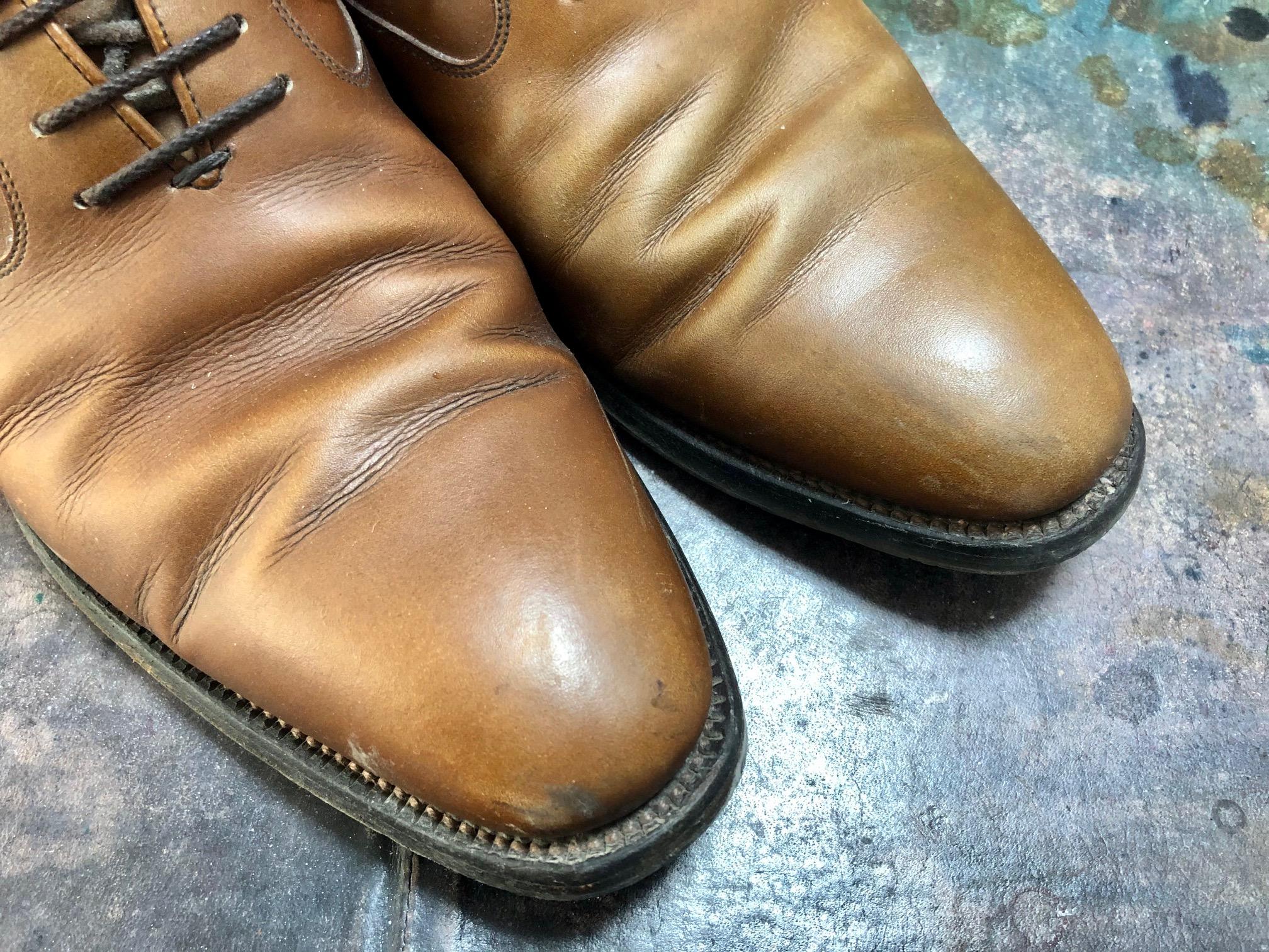 革靴 染め替え スコッチグレイン
