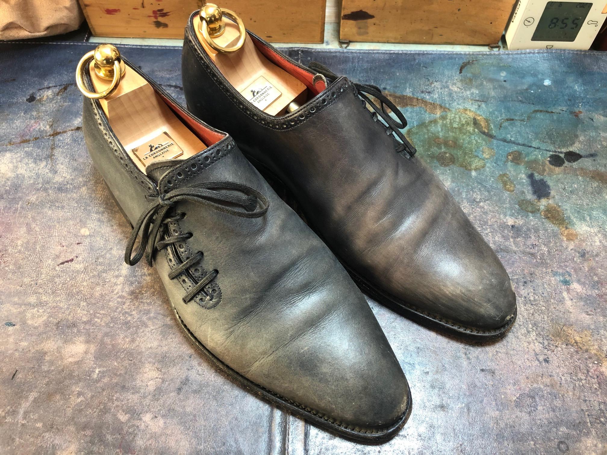 革靴 染め ミュージアムカーフ
