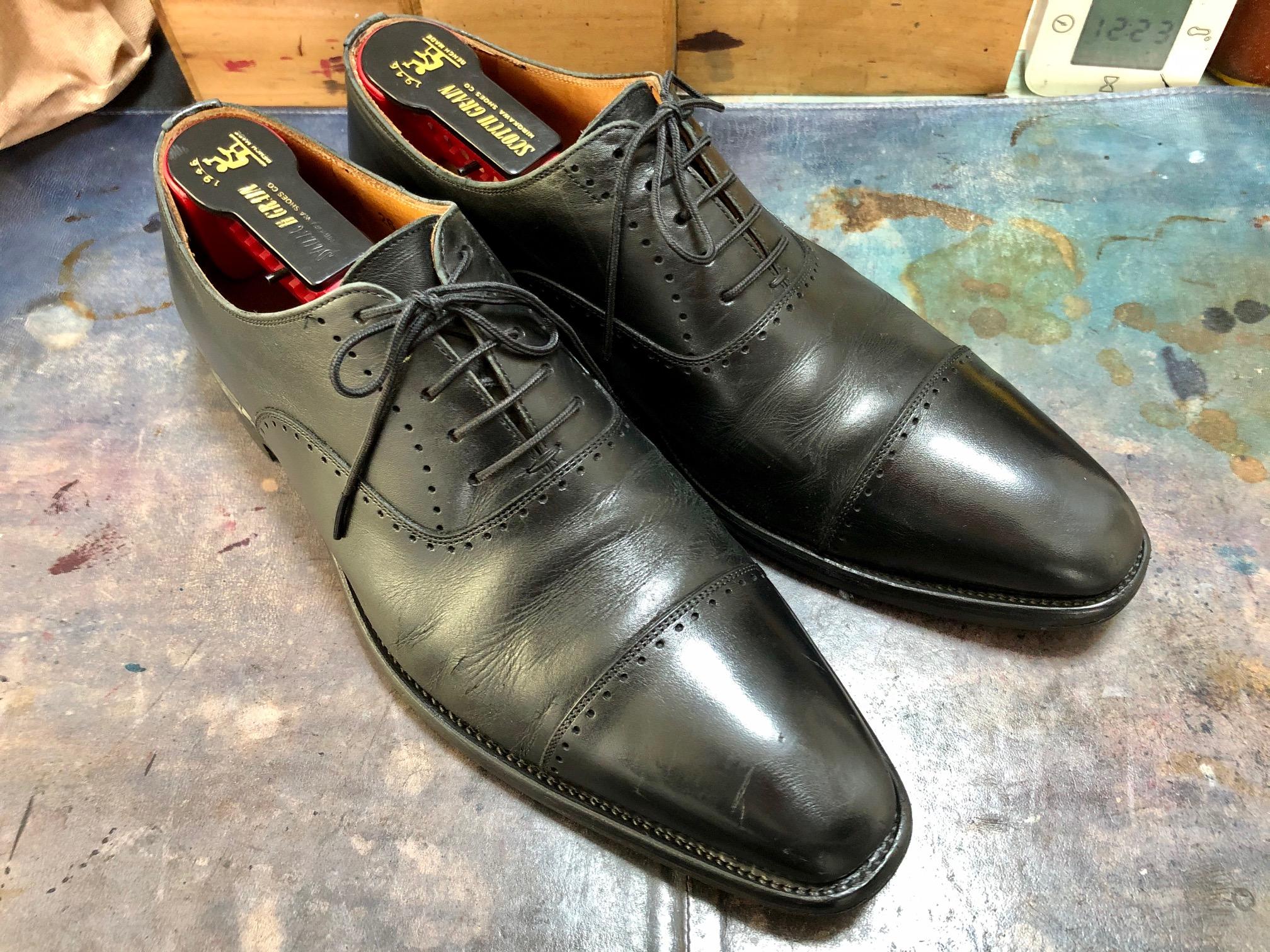 卒業式 入学式 靴磨き スコッチグレイン