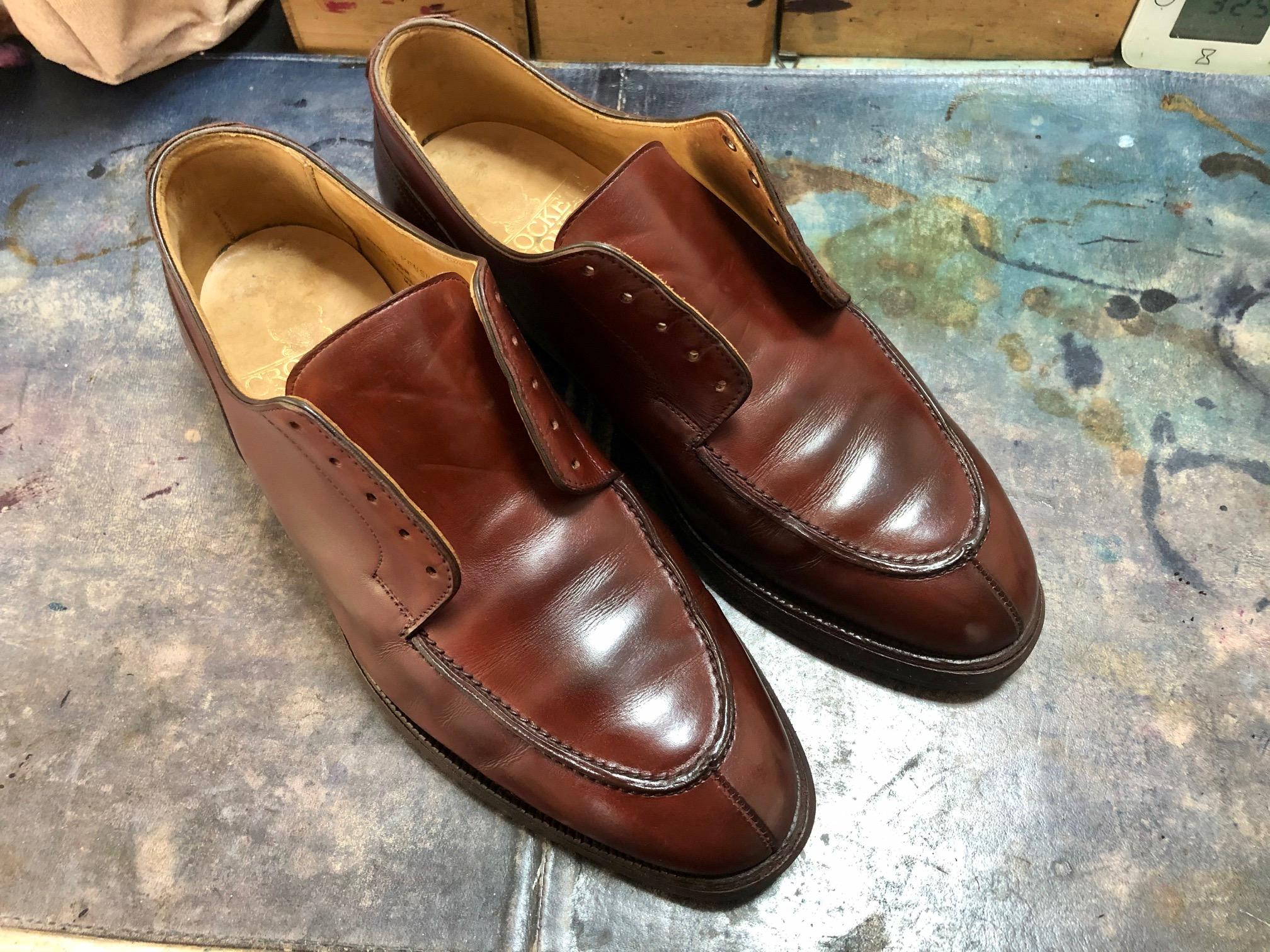 革靴 染め替え クロケット&ジョーンズ