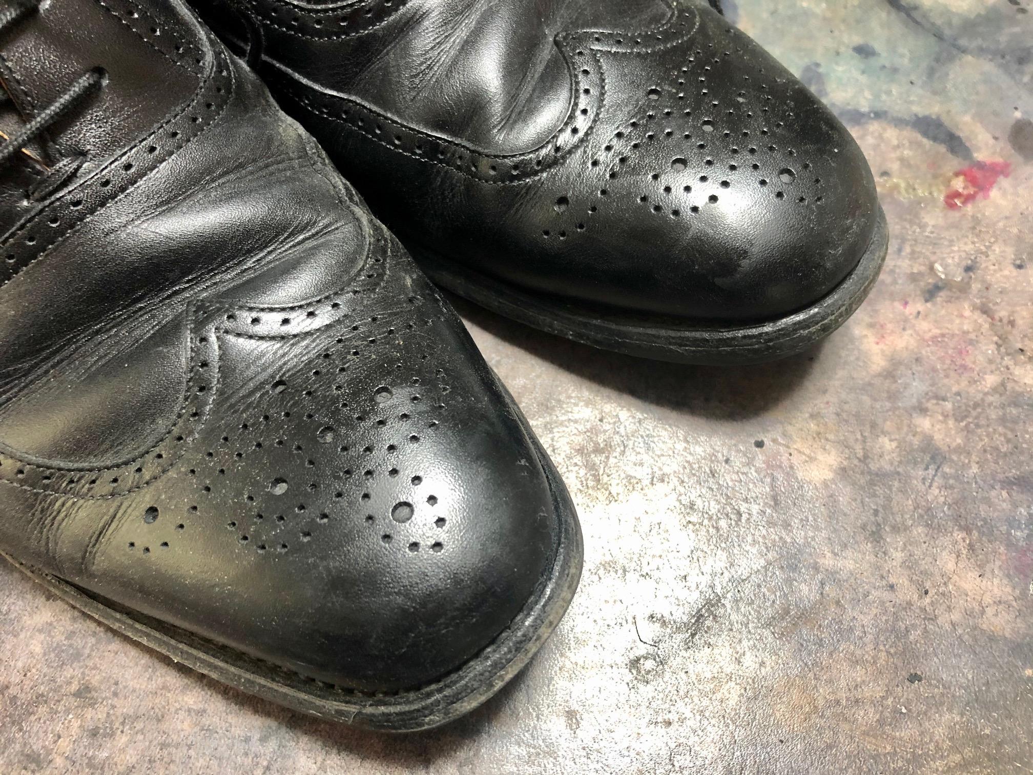 スコッチグレイン 靴磨き お手入れ 鏡面磨き
