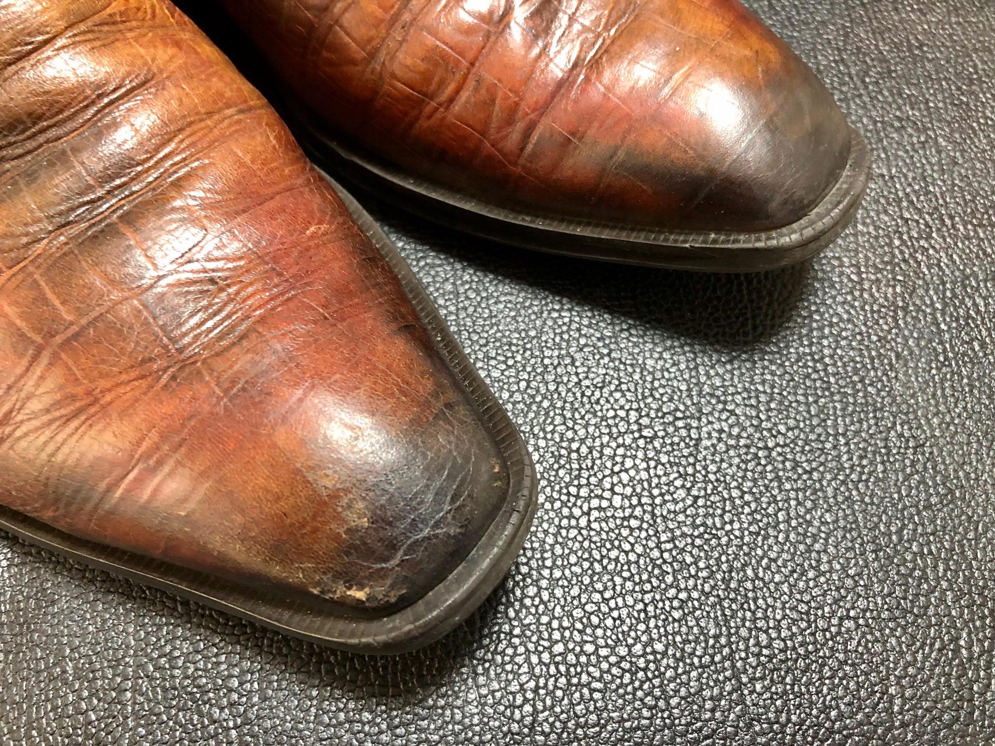 革靴 染め替え キズ補修 鏡面磨き ハイシャイン