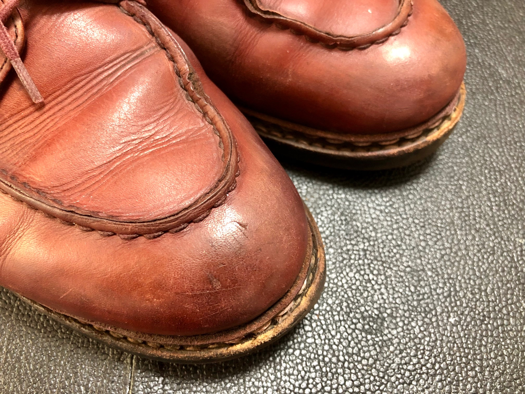 パラブーツ シャンボード お手入れ 靴磨き タグ