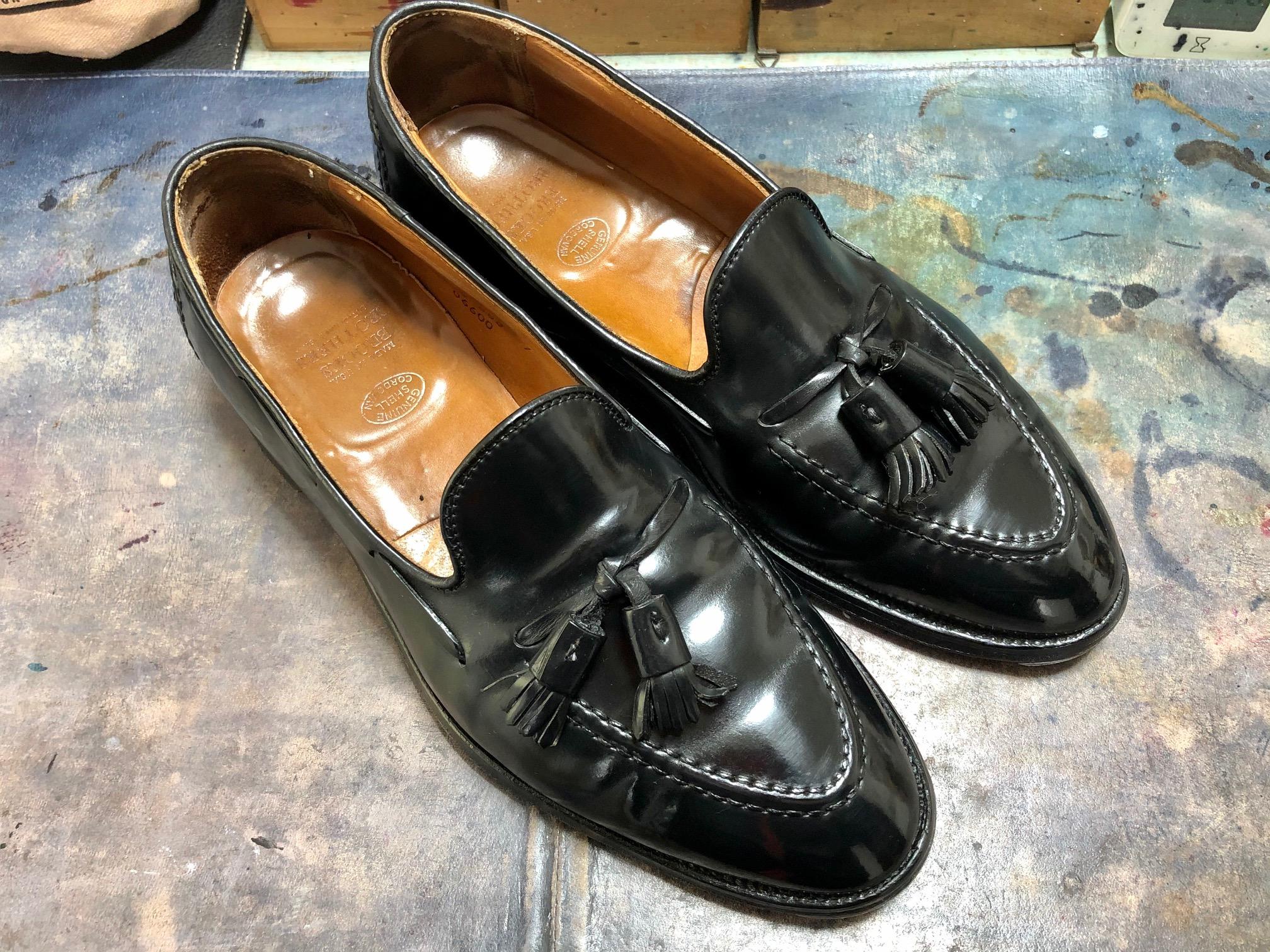 シェルコードバン お手入れ 靴磨き ブルックスブラザーズ